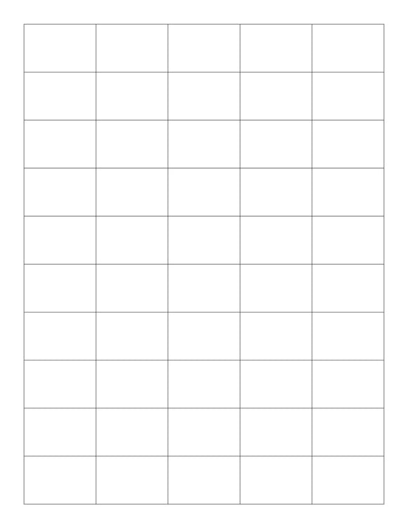 1 1/2 x 1 Rectangle Removable White Printed Label Sheet