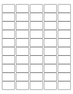 1 1/2 x 1 Rectangle White Label Sheet