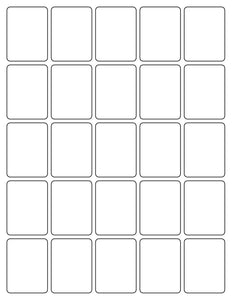 1 1/2 x 2 Rectangle Recycled White Printed Label Sheet