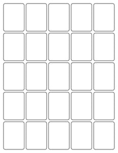 1 1/2 x 2 Rectangle White Printed Label Sheet