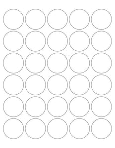 1 1/2 Diameter Round Fluorescent RED Label Sheet (Bulk Pack 500 Sheets) (30 up)