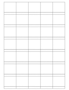 1 1/2 x 1 1/2 Square Clear Gloss Printed Label Sheet (Price Label)