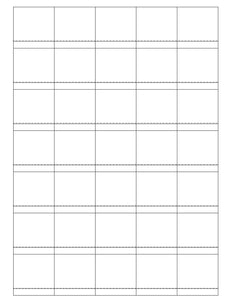 1 1/2 x 1 1/2 Square Removable White Printed Label Sheet (Price Label)