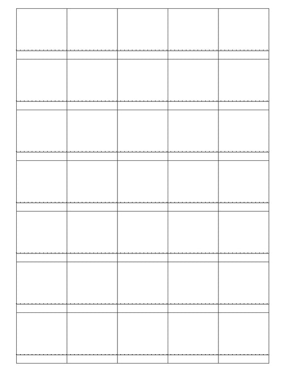 1 1/2 x 1 1/2 Square White Opaque BLOCKOUT Printed Label Sheet (Price Label)
