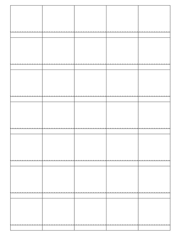 1 1/2 x 1 1/2 Square White Printed Label Sheet (Price Label)
