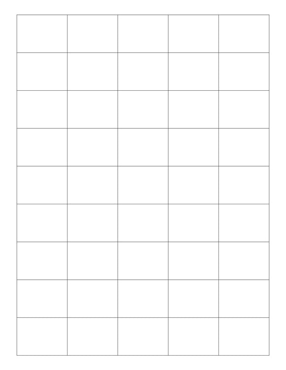 1 1/2 x 1 1/8 Rectangle White Label Sheet