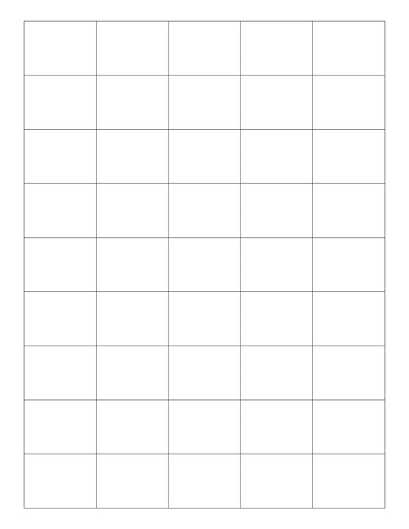 1 1/2 x 1 1/8 Rectangle White Opaque BLOCKOUT Printed Label Sheet