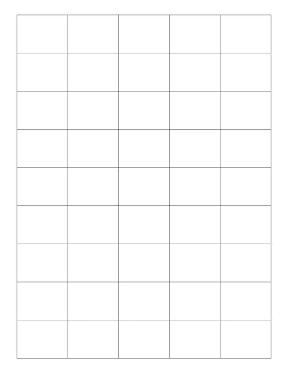 1 1/2 x 1 1/8 Rectangle White Printed Label Sheet