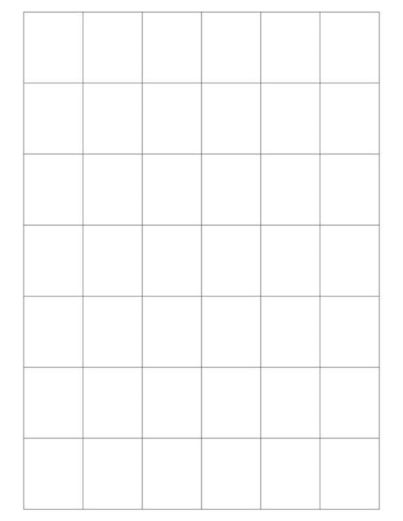 1 1/4 x 1 1/2 Rectangle White High Gloss Printed Label Sheet