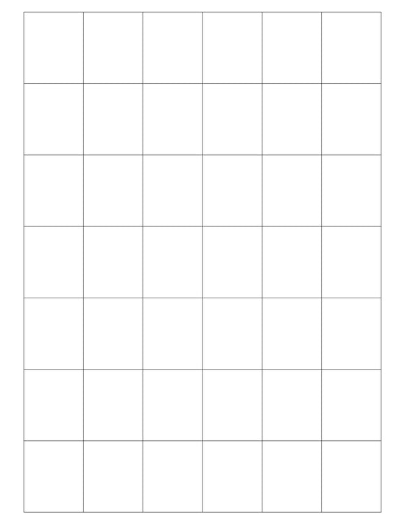 1 1/4 x 1 1/2 Rectangle White Printed Label Sheet