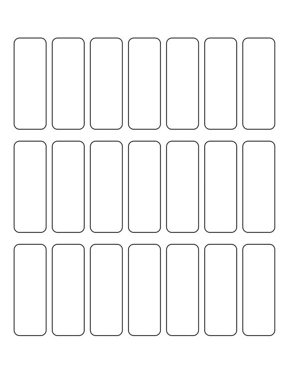 0.9831 x 2.7205 Rectangle White Label Sheet