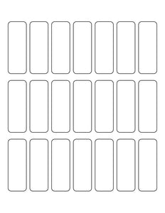 0.9831 x 2.7205 Rectangle Natural Ivory Printed Label Sheet