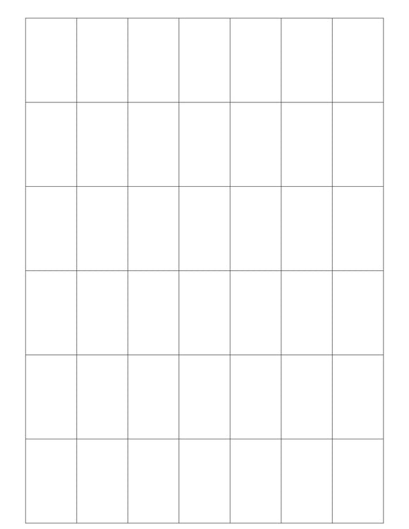 1 1/16 x 1 3/4 Rectangle White Label Sheet