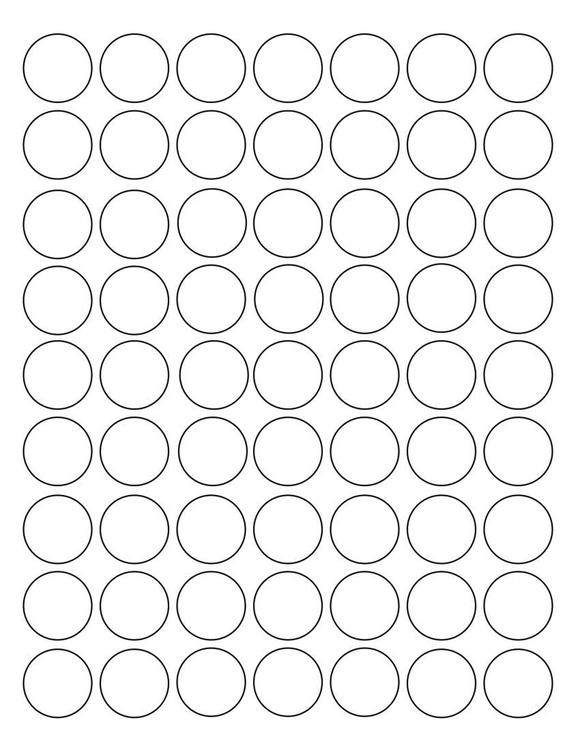1 Diameter Round PREMIUM Water-Resistant White Inkjet Label Sheets (Pack of 250)