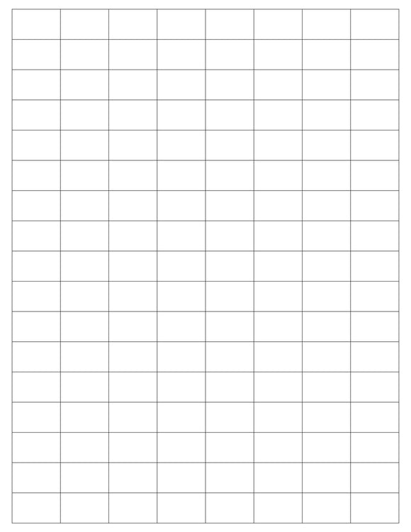 1 x 5/8 Rectangle White Label Sheet