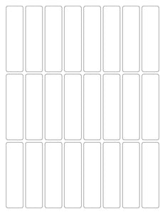 7/8 x 3 3/8 Rectangle Clear Gloss Printed Label Sheet