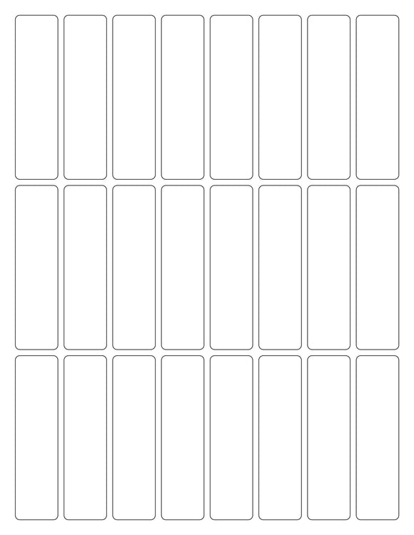 7/8 x 3 3/8 Rectangle White High Gloss Printed Label Sheet