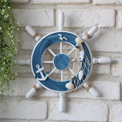 Wooden Wall Decor Fishing Net Beach 1pcs Hot Ship Steering Wheel