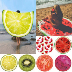 Round Printed Beach Towel Fashion Mat Wrap Skirt Sun Protection Shawl