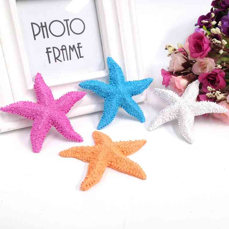 Resin Mnini Starfish 5PCS/SET Mediterranean Style Nautical Home Decoration Gifts Crafts 8cm