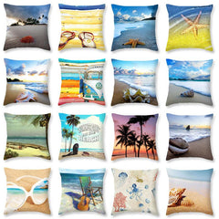 3D Style Beach Pillow Case Beautifful Decorative Varieties for Cushionn Cover Home Decoration