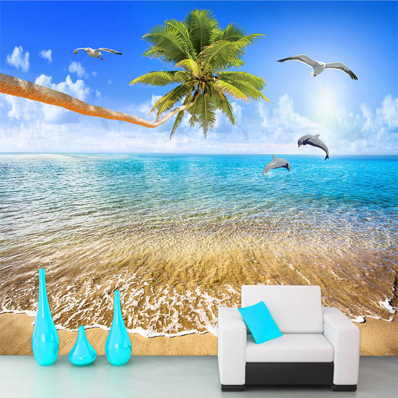 Mural Wallpaper Beach View Adhesive Home Decoration