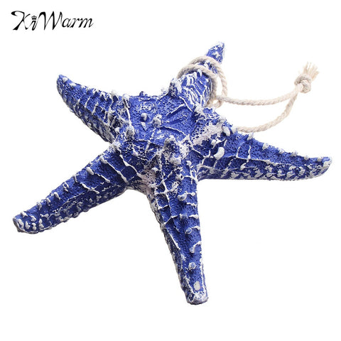 1Pcs of Mediterranean Style Blue Sea Star Ocean Beach Ornaments Wedding Resin Crafts Home Decor