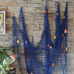 Big Fishing Net Seaside Wall Beach Party Sea Shells Wall Ceiling Bar Home Decor 100/200cm
