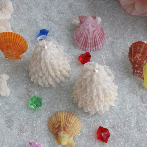 White Bubble Shell Natural Shell Conch Beach Wedding Chistmas Handmade Decor
