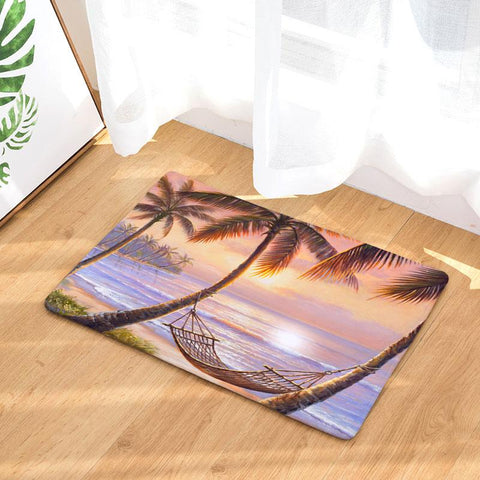 Romantic Beach Tree Mat