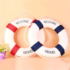Soft Nautical Aboard Decorative Life Buoy Home Marine Beach Wall Wheel Decor