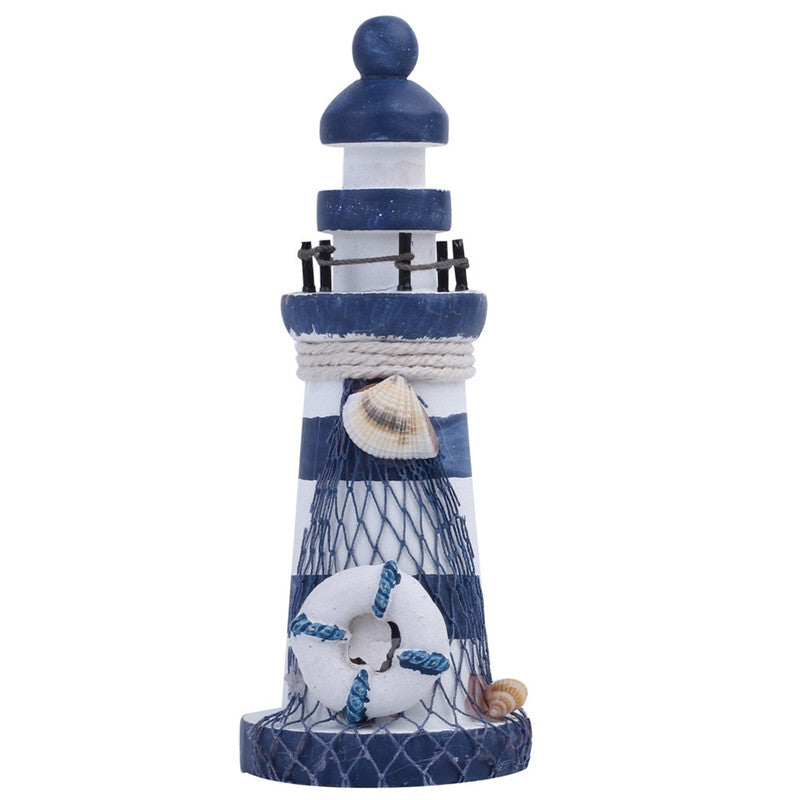 Nautical Wood Wooden Lighthouse Beacon Tower Beach Decor