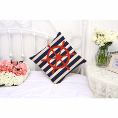 Nautical Marine Linen Pillow Case 5 Styles Cushion Cover Home Decoration