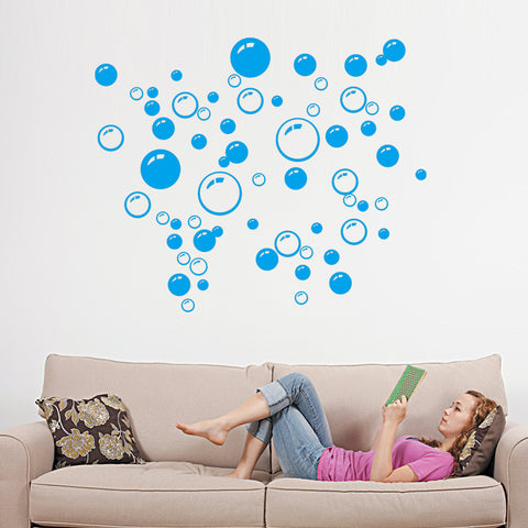 Waterproof 3 Color Wall Tile Bubble Art Decoration Decal Kids Wall Sticker