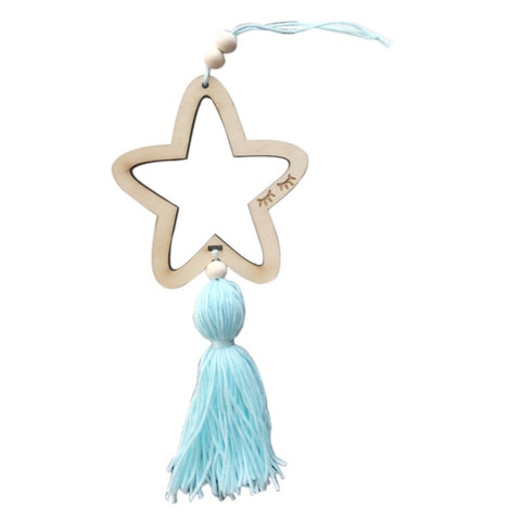 Nordic Christmas Style Hanging Decoration Star Beads With Tassel Gifts Home Decoration Hanger