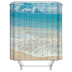 Polyester Bathroom Shower Curtain with a Ocean or Wild Theme Printing