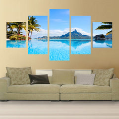 5 Piece Decorative Canvas Pictures For the Living Room Home Decor