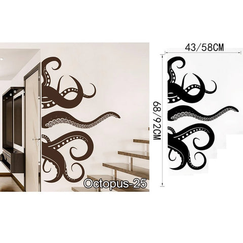 Vinyl Octopus Tentacles Wall Sticker For Home Decoration