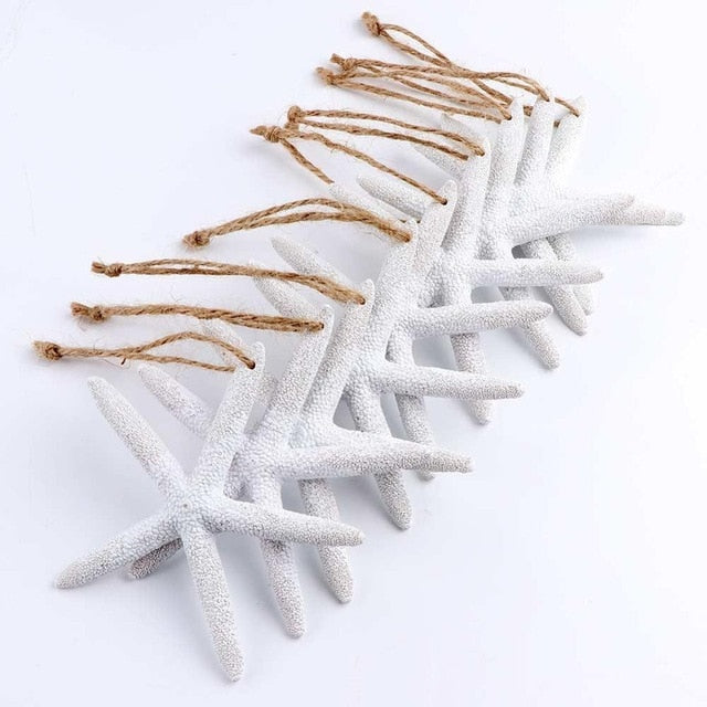 Starfish Five Finger Christmas 10pcs Pendant & Drop Ornaments Christmas Tree Decoration Ornaments Christmas 2018