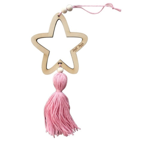 Nordic Christmas Style Hanging Decoration Star Beads With Tassel For Kids Room Toddler Gifts Home Decoration Hanger