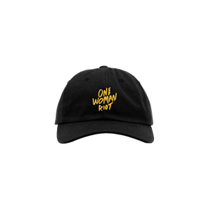 Black One Woman Riot Hat