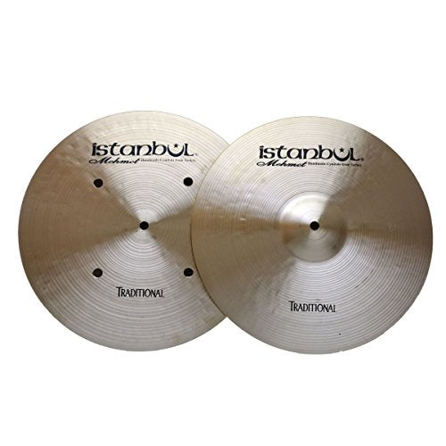Istanbul Mehmet Cymbals 16-Inch Traditional Hi-Hat Flat Hole Bottom