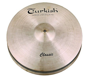 "Turkish Cymbals 13"" Classic Hi-Hat Flat Hole"