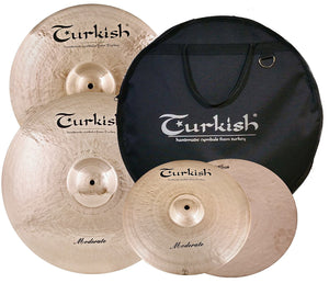 Turkish Cymbals Moderate Cymbal Pack Box Set (14HH-16C-20R +BAG) M-SET-3