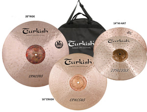Turkish Ephesus Cymbal Pack Box Set (14HH-16C-20R)