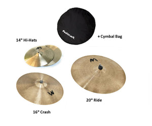 Masterwork Cymbals Jazz Master Cymbal Pack Box Set (14HH-16CRS-20R+Bag)