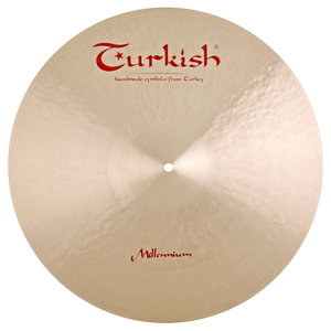"Turkish Cymbals 22"" Millennium Ride Sizzle/Rivets"