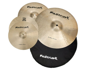 Masterwork Cymbals Custom Cymbal Pack Box Set (14HH-16CRS-20R+Bag)