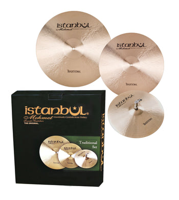 Istanbul Mehmet Traditional Cymbal Pack Box Set (14HHM+16CM+20RM+Bag) TR-SET