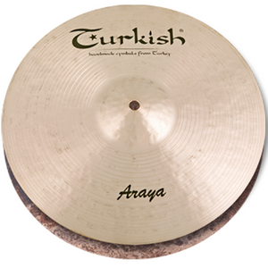 "Turkish Cymbals 14"" Araya Hi-Hat Flat Hole"